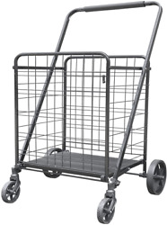 Xinglang Folding Shopping Cart, Collapsible And Heavy Duty Grocery Cart, Easy Mo
