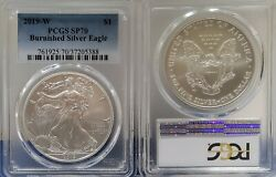 2019 W Pcgs Sp70 Burnished Silver Eagle