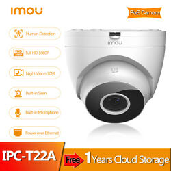 Imou 1080p Poe Dome Indoor Security Ip Camera Night Vision One-way Audio Onvif