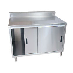 Bk Resources Cstr5-2472s 72w X 24d Stainless Steel Cabinet Base Work Table