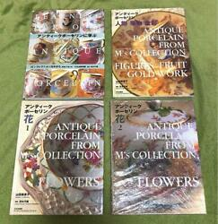 Antique Porcelain Collection Japanese Photo Book Lot Of 4 Hardcover From Jp Rare