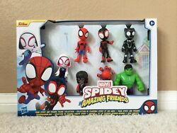 Marvel Spidey And His Amazing Friends Black Panther Hulk 7 Pc Figure Set 2021