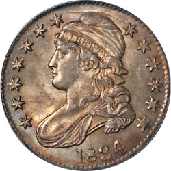 1834 Bust Half Dollar Large Date Large Letters Pcgs Ms63 0-102 R.1