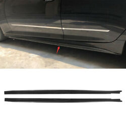 For Cadillac Ct5 2020-2021 Side Skirts Extension Spoiler Lip Abs Carbon Fiber