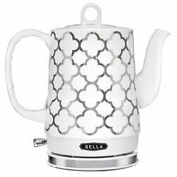 Bella Electric Ceramic Tea Kettle, Boil Water Quickly And Easily, Detachabl…