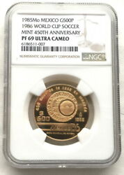 Mexico 1985 Mint 450th Anniversary 500 Pesos Ngc Pf69 Gold Coinproof