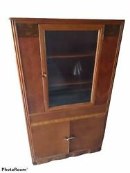 Vintage China Cabinet Hutch Pie Cabinet Jelly Cupboard
