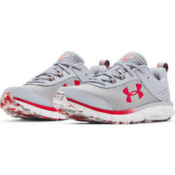 Nib Men Under Armour 3024622 100 Charged Assert 8 Marble Grey Deluxe Foam Shoes
