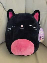 """Kellytoy Squishmallow Catarina the Cat Black Pink 8"""" Halloween 2020 Collection"""