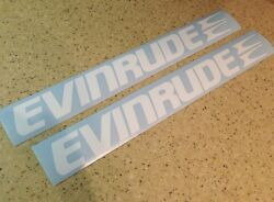 Evinrude Vintage Outboard Motor Decals 14 White Free Ship + Free Fish Decal
