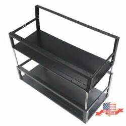 Dual Deck Computer Crypto Coin Case Rack For 6/8/12 Gpu Open-pit Mining Support