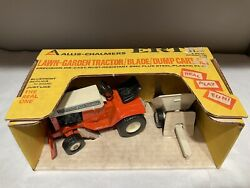 Allis Chalmers Lawn And Garden Tractor Toy With Cart Rare