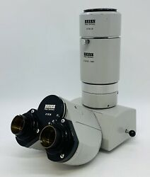 Zeiss 473028 Standard Trinocular Microscope Head And Photo Port 476005 And 476029