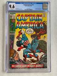 Captain America 132 Cgc 9.6 White Pages 1970 M.o.d.o.k. Falcon Doctor Doom