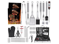 39pcs Bbq Grill Accessories Set Tools Stainless Steel Grilling Barbecue Case New