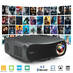 8500lms Smart 5g Wifi Projector Native 1080p 4k Movie Blue Tooth Video Youtube