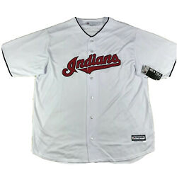Majestic Cleveland Indians Francisco Lindor Mlb Jersey Size 2xl Big And Tall Nwt