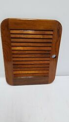 Teak Marine Galley Cabinet Louver Door For Boat Yacht Sailboat Rv 18 X 14