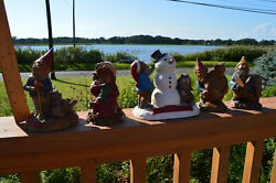 Lot Of 5 Tom Clark Tim Wolfe Gnomes Xmas Rabbits/snowman/bear/mrs.claus 1 Signed