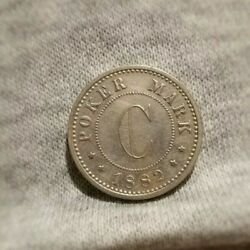 Poker Mark 1882 Berlin, Pattern/trial For Mexico 5/2/1 Centavos Coin. Very Rare