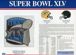 Willabee And Ward Super Bowl Xlv 45 Patch Packers Vs Steelers Aaron Rodgers Mvp