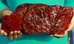 Fast Shipping By Fedex 6kg Certified Natural Red Ruby Gemstone Rough Big Offer