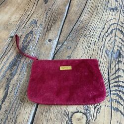 Pink IPSY furry Cosmetic Bag For Purse or Gym Bag Zip Top $9.99