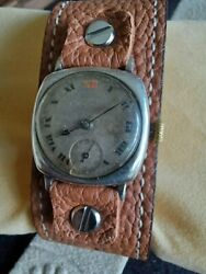 Rolex Watch Men Silver Military Trench Serviced Antique Rare Vintage Collectable