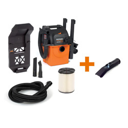 5 Gal. 5.0-peak Hp Portable Wall-mountable Wet/dry Shop Vacuum With Filter Hose