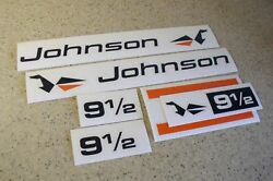 Johnson Outboard Motor Vintage Decal 9-1/2 Hp Free Ship + Free Fish Decal