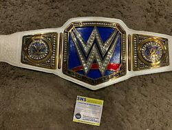 Signed Autographed Wwe Authentic Women's Championship Replica Belt Aew Becky Wwf