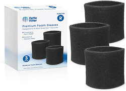 Foam Sleeve Vacuum Filter With Shop Vac Compatible 90304 3 Packs Sleeves