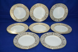 Wedgwood Gold Florentine White W4219 8 Bread And Butter Plates, 6