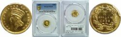 1882 1 Gold Coin Pcgs Ms-65