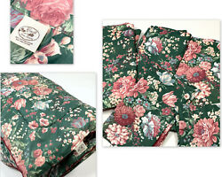 Croscill Discontinued Granada Queen Set 6 Comforter And Curtains Green Floral Htf