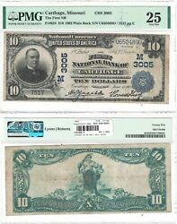 1902 10 First National Bank Of Carthage, Mo 3005 Pmg Very Fine-25