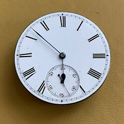 Vintage Lund And Blockley English Lever Pocket Watch Movement/dial Working Spares.