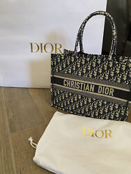 Brand New 100 Authentic Dior Small Book Tote Blue Used Once