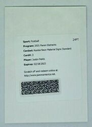 2021 Elements Justin Fields Rookie Neon Material Signs Auto /25 Rpa Redemption
