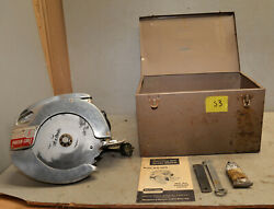 Very Nice Porter Cable Model 8 Circular Saw Case Building Collectible Tool S3