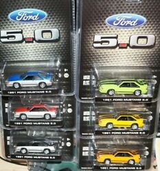 1991 Ford Mustang Gt Foxbody Lbe Exclusive 1/64 Diecast Greenlight Set Lot Of 6