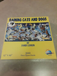 Raining Cats And Dogs 500 Piece Jigsaw Puzzle By Sandi Lebron