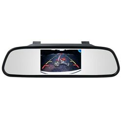 Ibeam Bb-cm43 4.3 Lcd Monitor Mirror For Backup Camera With Clip-on Mount Black