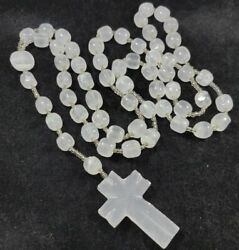 50quot; Onyx Marble Beaded Cross Necklace