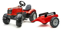 Massey Ferguson 8740 S Kids Pedal Tractor And Trailer Fa4010ab