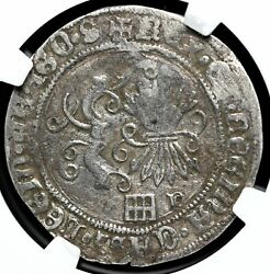 Spain. Ferdinand And Isabella 1474-1504 Silver Real Ngc Vf Details