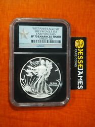 2013 W Silver Eagle Ngc Sp70 Enhanced Finish From West Point Set Early Releases