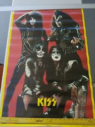 Vintage Kiss Band Poster Five Star Vancouver Canada Bc Lithograph 23 X 35 Rare
