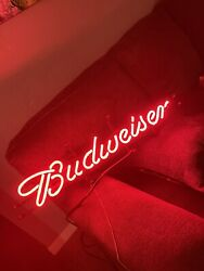 Very Rare Budweiser Red Neon Sign