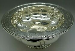 Mary C. Knight Rare Sterling Silver Heavy Boston Arts And Crafts Bowl 29 Ounces